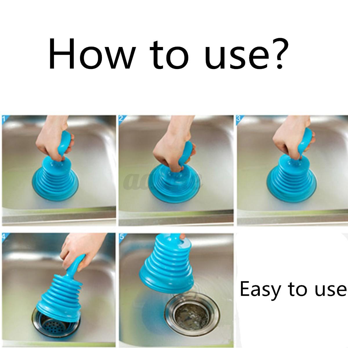sink plunger blocked toilet drain unblock pipe kitchen cleaning cleaner bathr. Black Bedroom Furniture Sets. Home Design Ideas