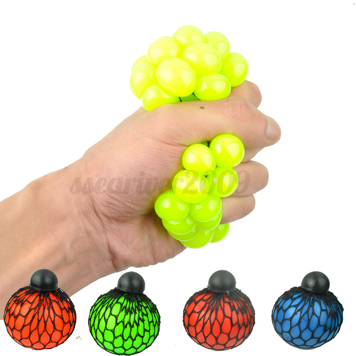 Novelty Squishy Colored Mesh Stress Ball Squeeze Stressball Party Bag Fun Gift eBay