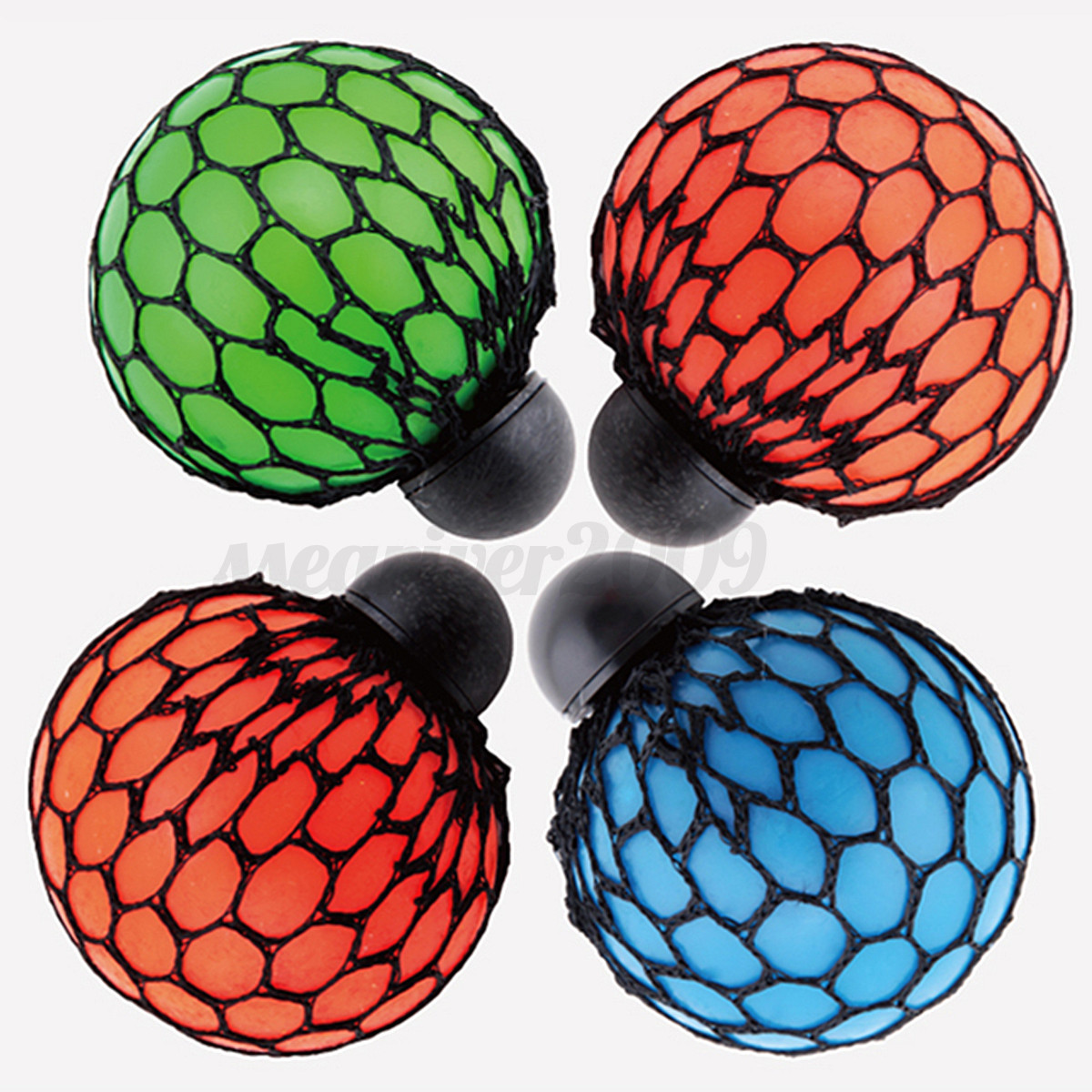 Squishy Squeeze Ball : Novelty Squishy Colored Mesh Stress Ball Squeeze Stressball Party Bag Fun Gift eBay