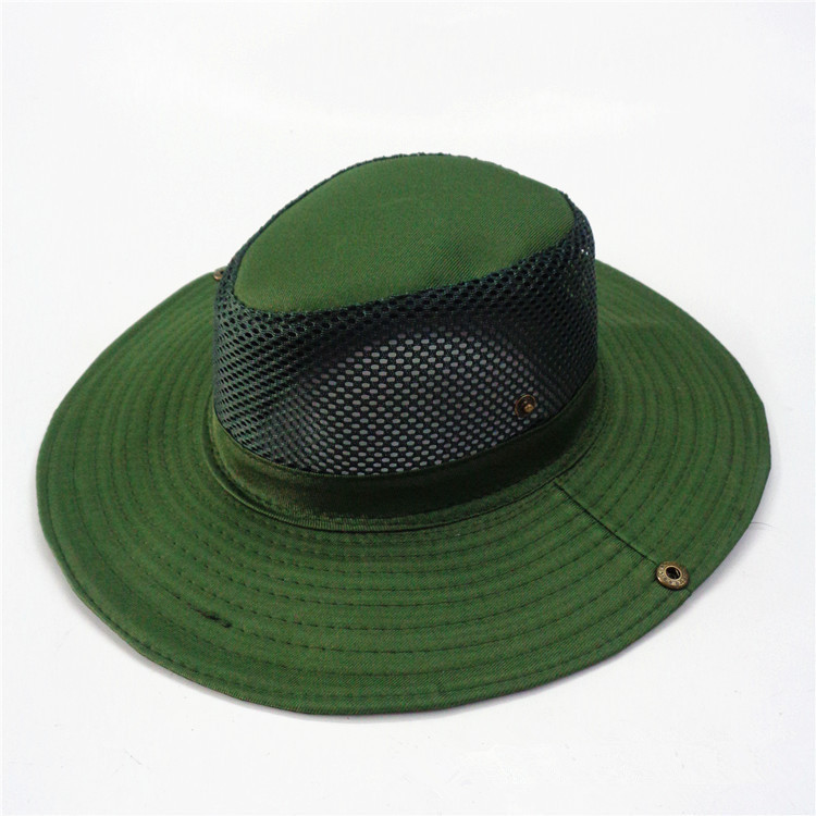 Unisex camo military army mesh boonie bush jungle hiking for Mesh fishing hats