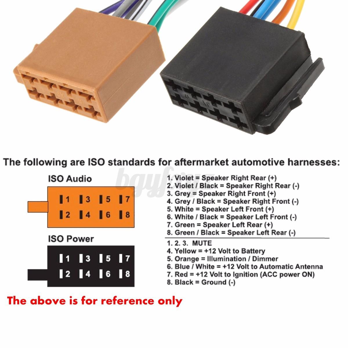 Autoradio ISO Kabel Radio Adapter Stecker Kabelbaum 12V Für Toyota ...