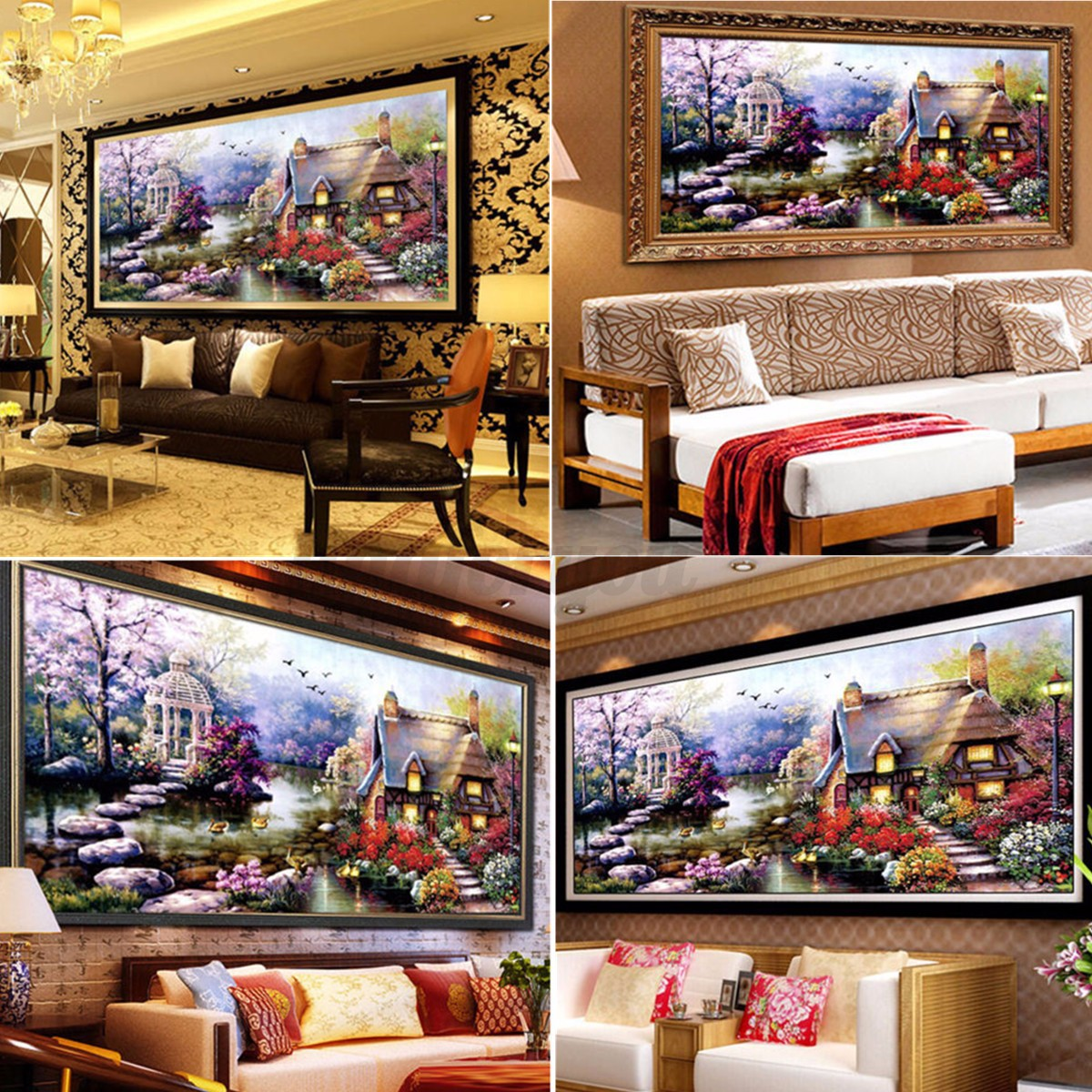 5d diy embroidery diamond painting landscapes cross stitch for Home decor 5d