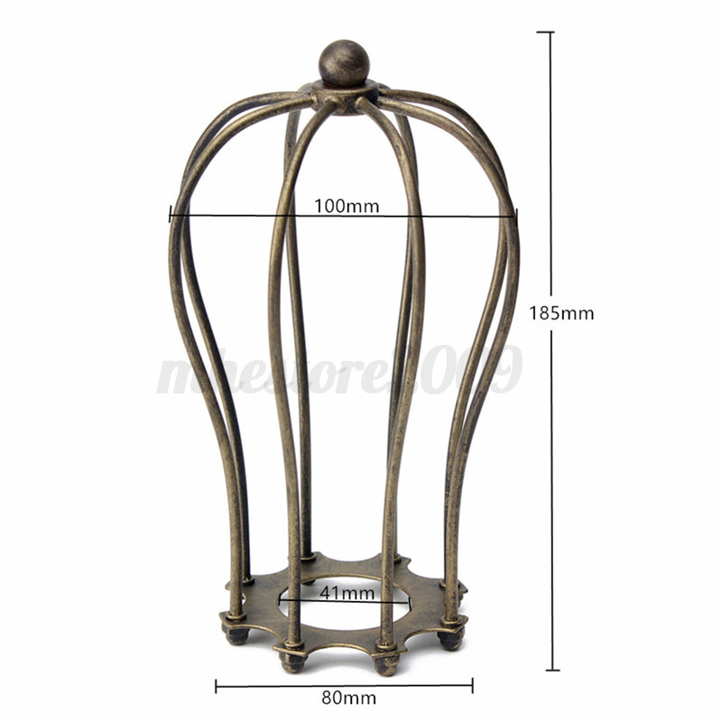 industrial vintage antique metal wire bulb cage guard lampshade trouble light. Black Bedroom Furniture Sets. Home Design Ideas