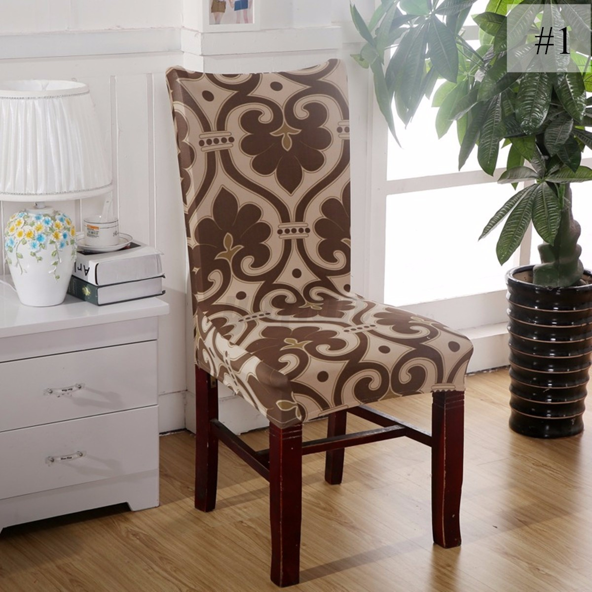 Washable Stretch Elastic Dining Room Wedding Banquet Chair Seat Cover Slipcov
