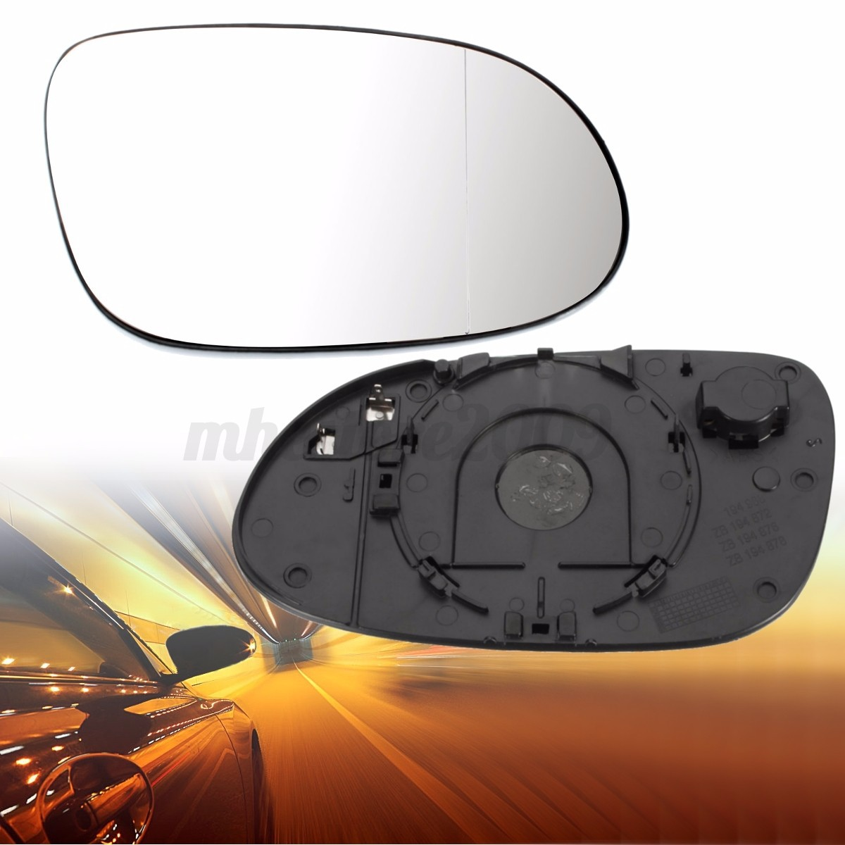 Right side heated wide angle wing door mirror glass for for Mercedes benz c300 side mirror glass
