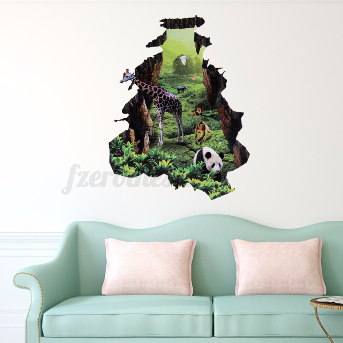 3d fenster landschaft wandtattoo wandsticker wandaufkleber kinderzimmer wandbild ebay. Black Bedroom Furniture Sets. Home Design Ideas