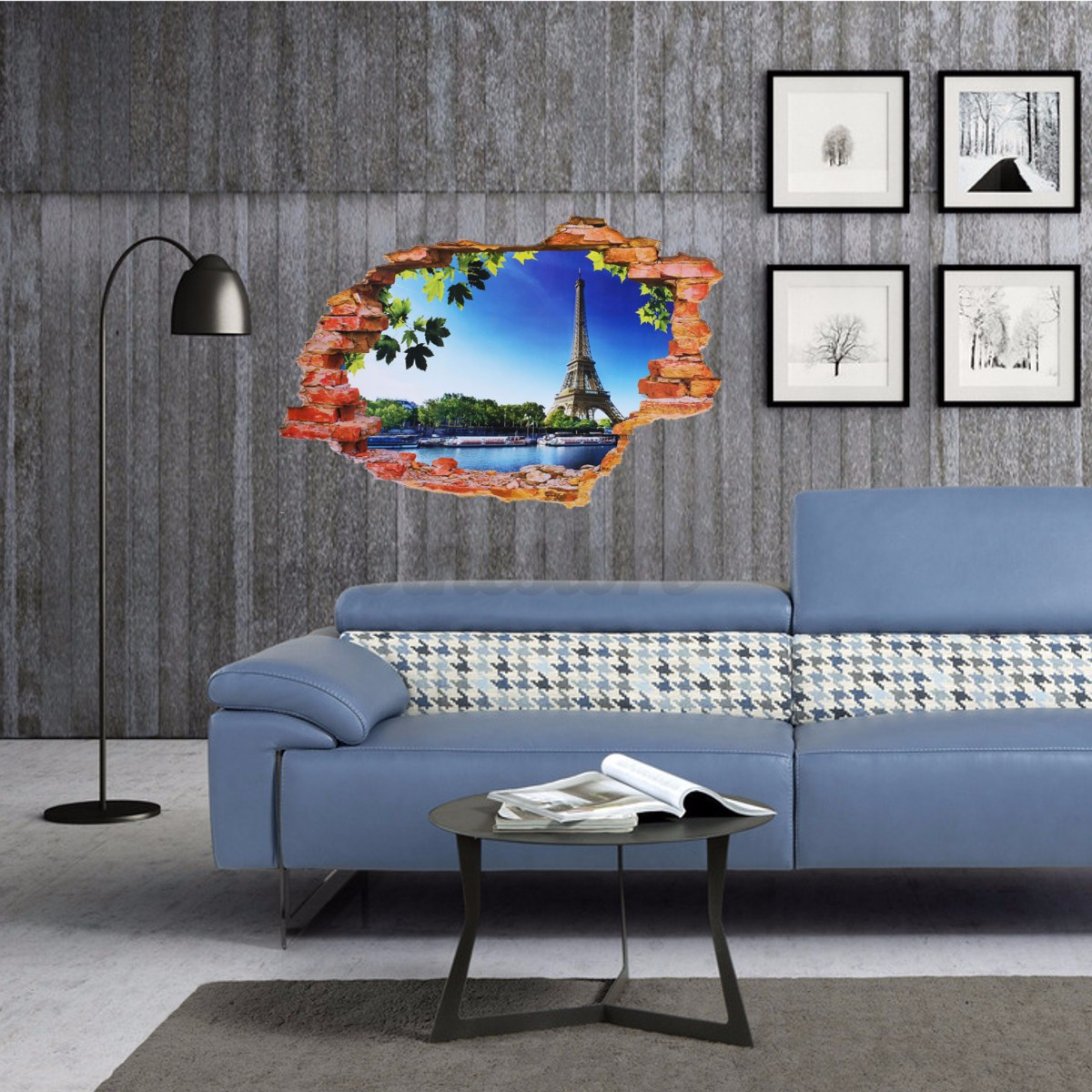 3d fenster landschaft wandtattoo wandsticker wandaufkleber. Black Bedroom Furniture Sets. Home Design Ideas