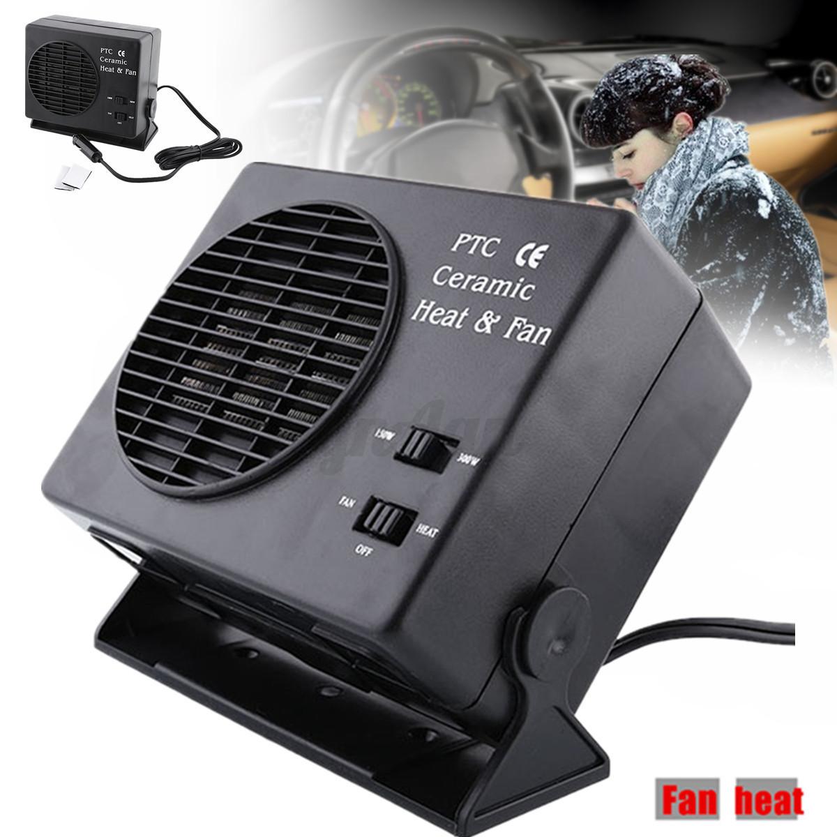 r glable 12v ventilateur chauffage d givreur ceramique fan heater auto voiture ebay. Black Bedroom Furniture Sets. Home Design Ideas