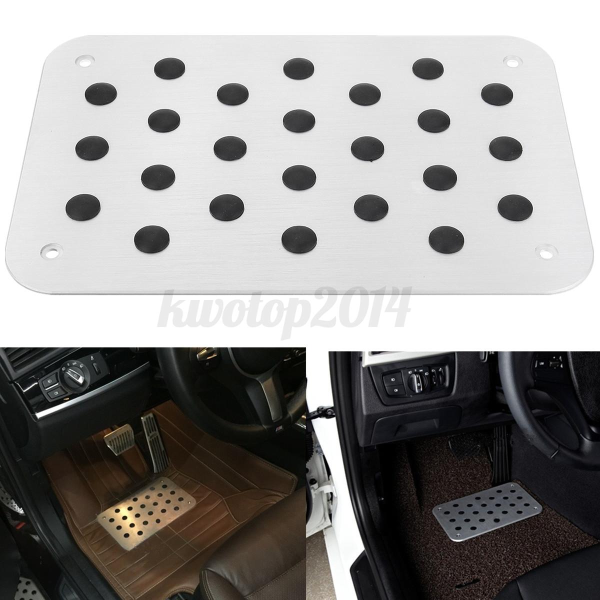 Aluminum Antiskid Floor Mat Plate For AUDI A1 A3 A4 A5 A6