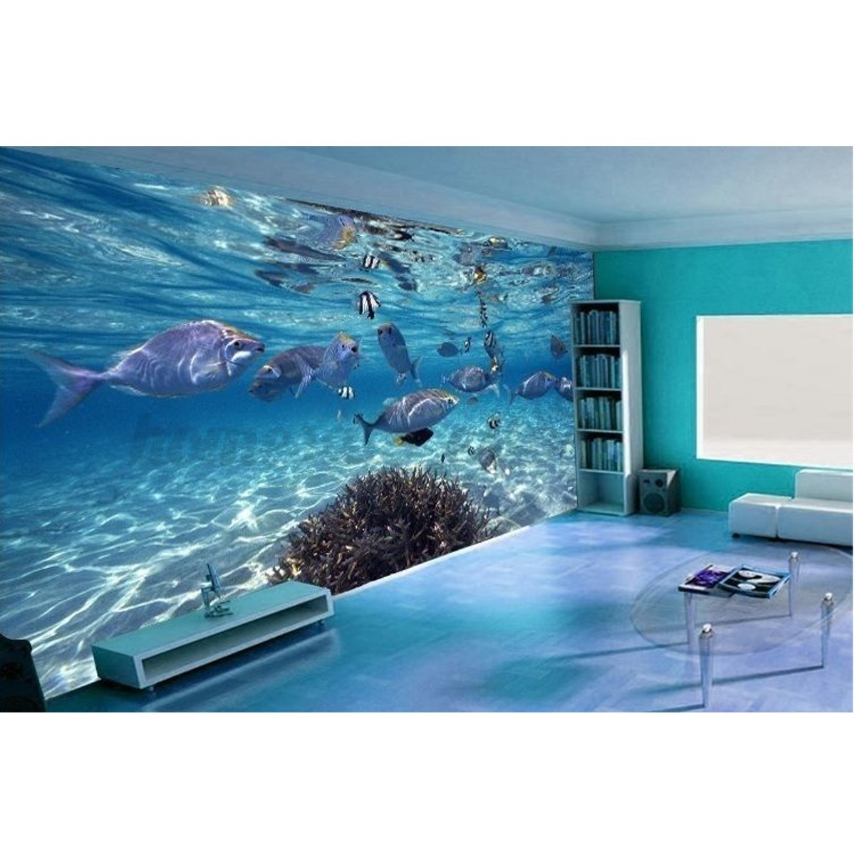 3d wallpaper bedroom mural roll modern luxury sea world for Home decor 3d wallpaper