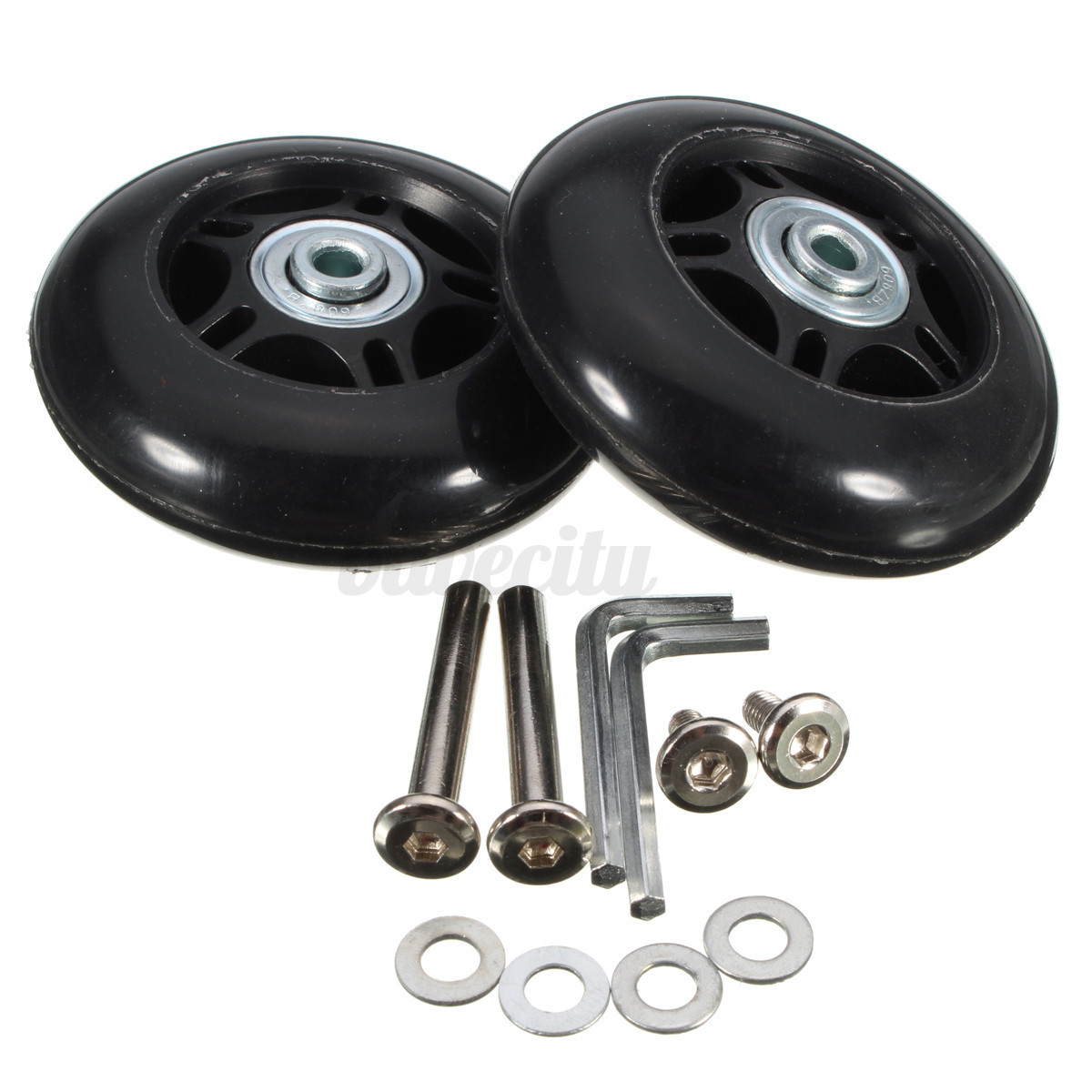 Tool Replacement Parts : Set od mm luggage suitcase wheels replacement deluxe