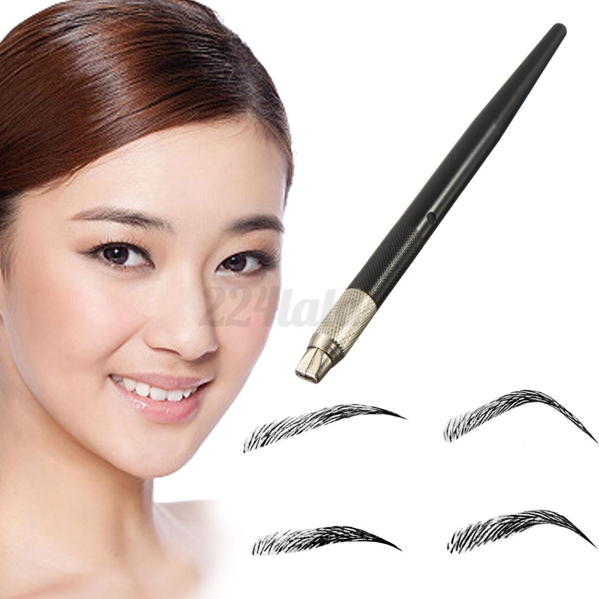 Micro blading pen tattoo machine permanent makeup eyebrow for Eyebrow tattoo pen