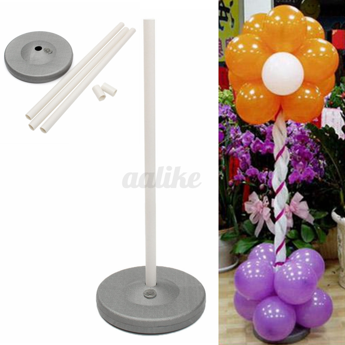 Balloon column base stand display kit wedding birthday for Balloon decoration kits
