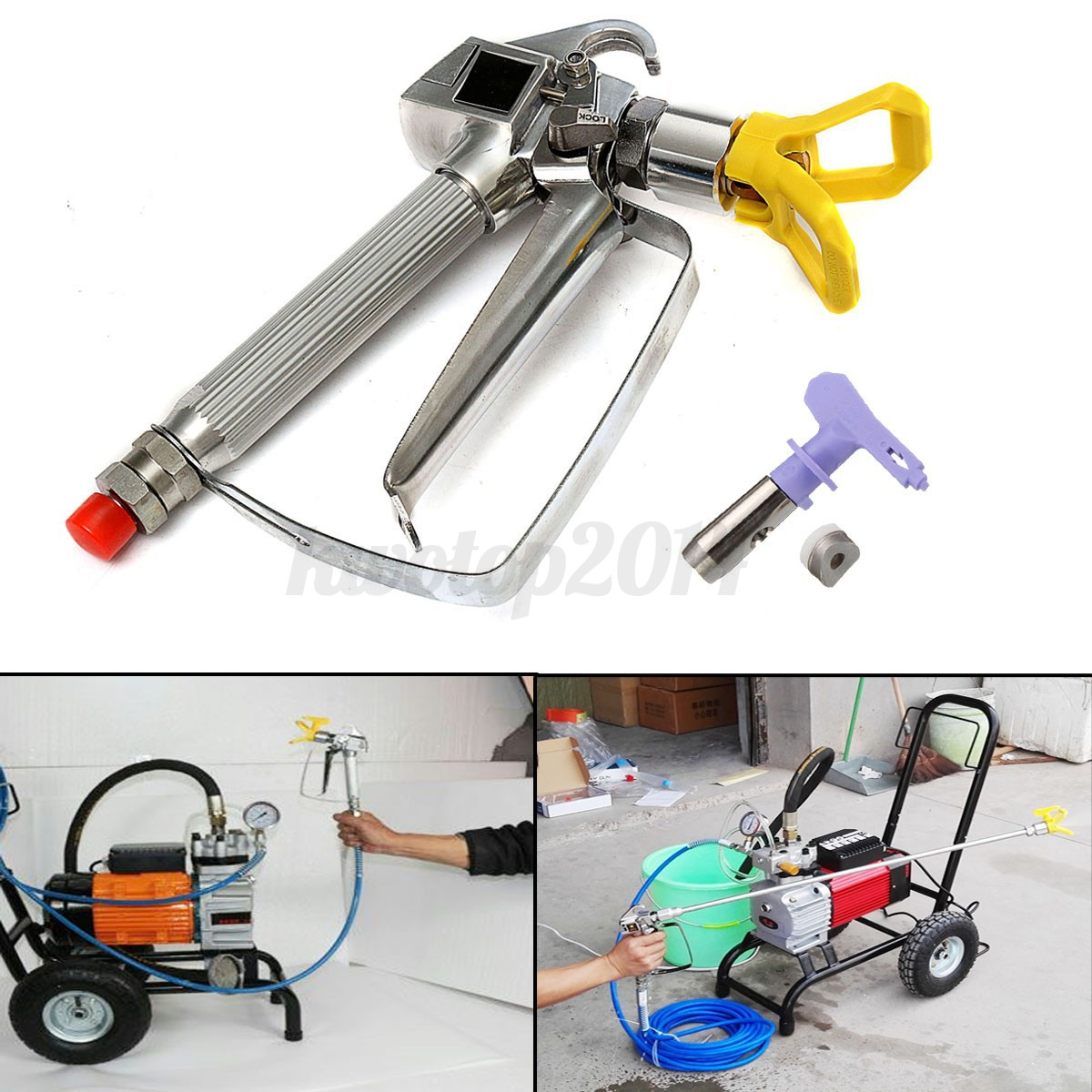 3600psi airless paint sprayer gun high pressure with 517 for Air or airless paint sprayer