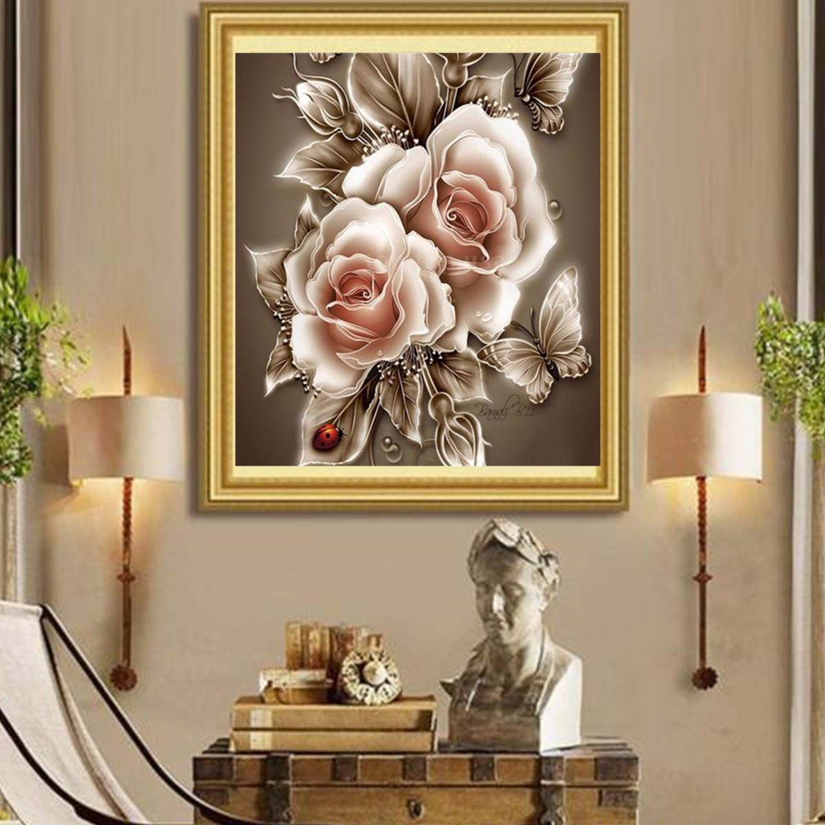 5d diamond painting zoo animal embroidery diy cross stitch for Home decor 5d