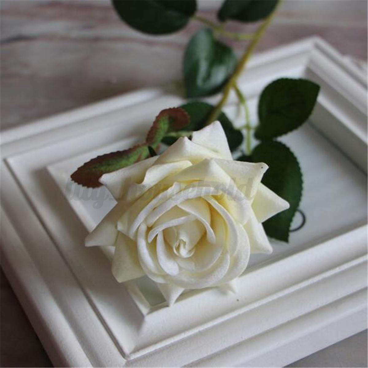 12x künstlich blumen kunstblumen rose blumenstrauß floristik ...