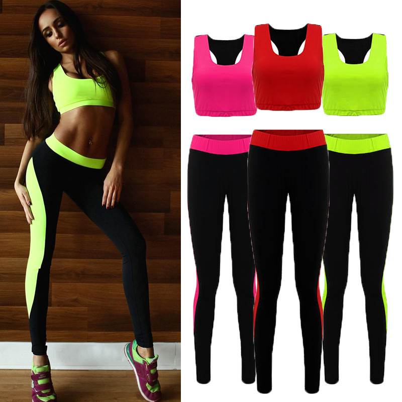 Women Athletic Gym Yoga Clothes Running Fitness Crop Tops