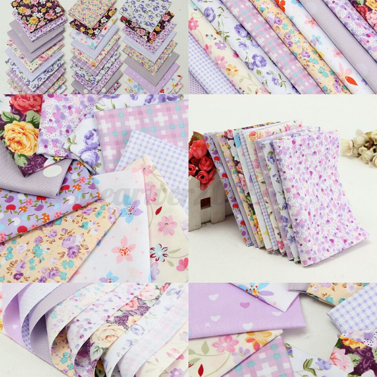 10pcs Colorful Floral Fabric Cotton Cloth Diy Sewing Quilt Tablecloth Home Decor Ebay