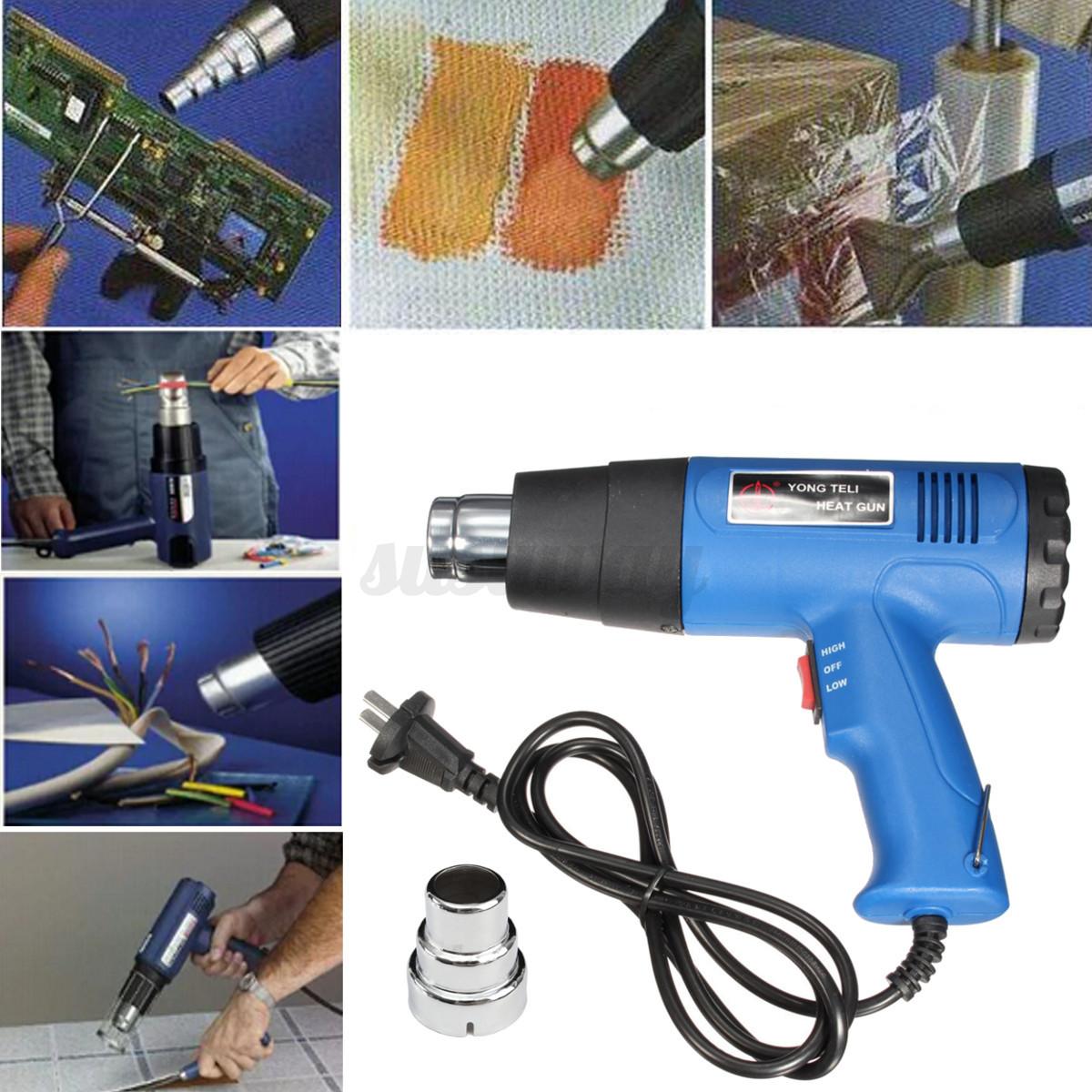 1500w electric heat gun handheld hot air heating hobby for Heat guns for crafts
