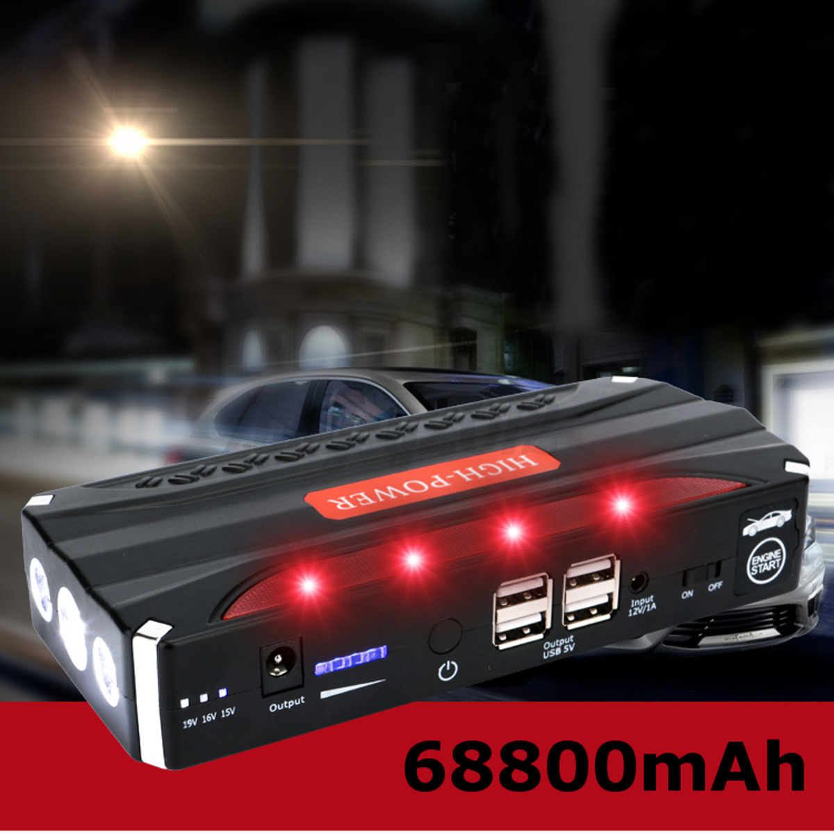 68800mah 12v booster starter voiture batterie d marrage chargeur d marreur auto ebay. Black Bedroom Furniture Sets. Home Design Ideas
