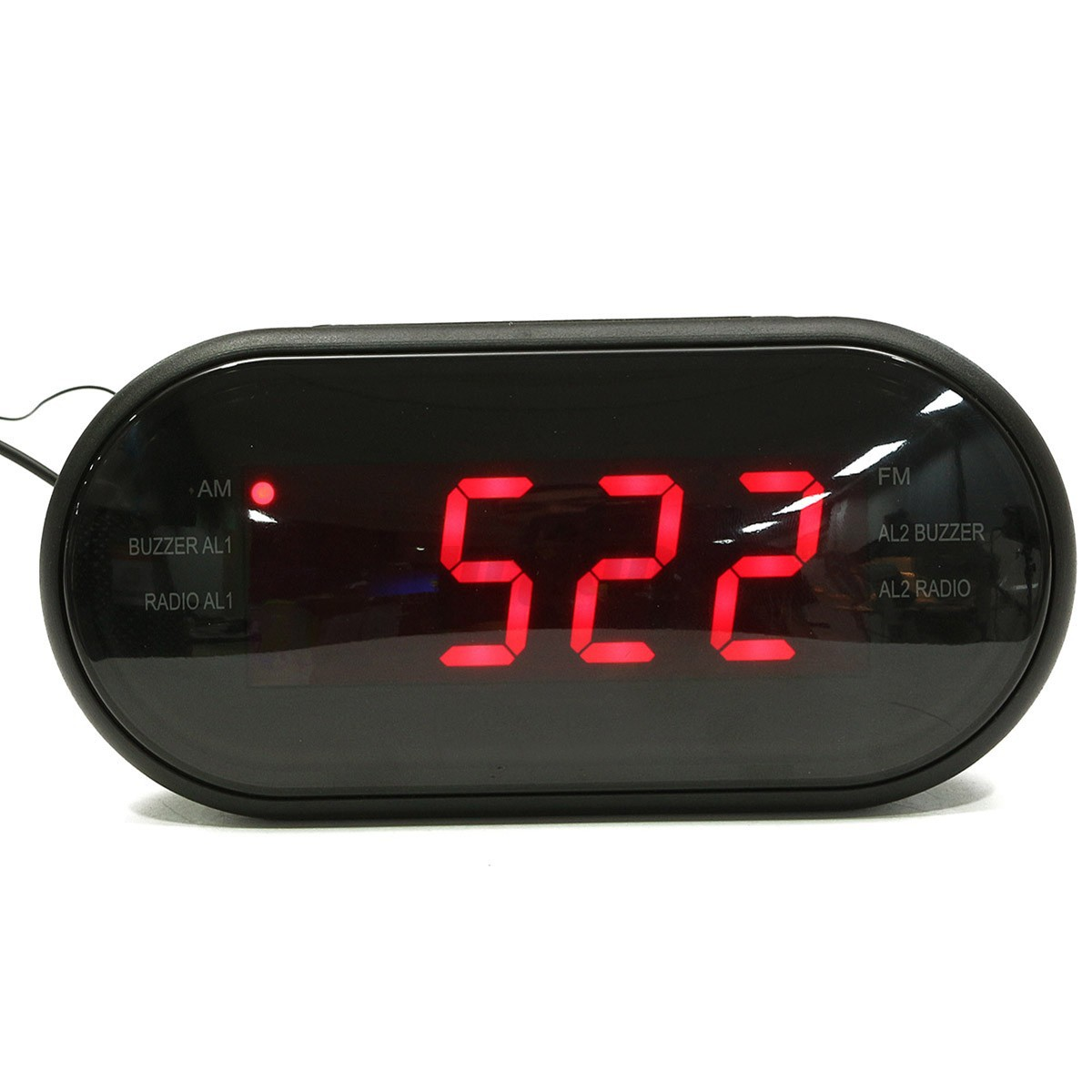 led display digital am fm radio alarm clock buzzer snooze function ebay. Black Bedroom Furniture Sets. Home Design Ideas