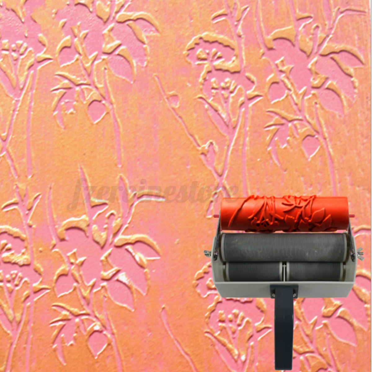 Wall Design Paint Brush : Patterns embossing paint roller painting brush with