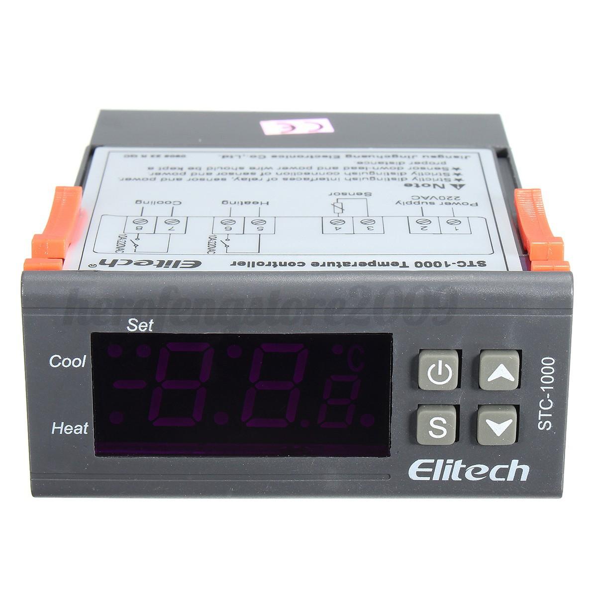 LCD Digital Temperature Controller Thermostat Sensor Alarm 220V eBay #C03A0B