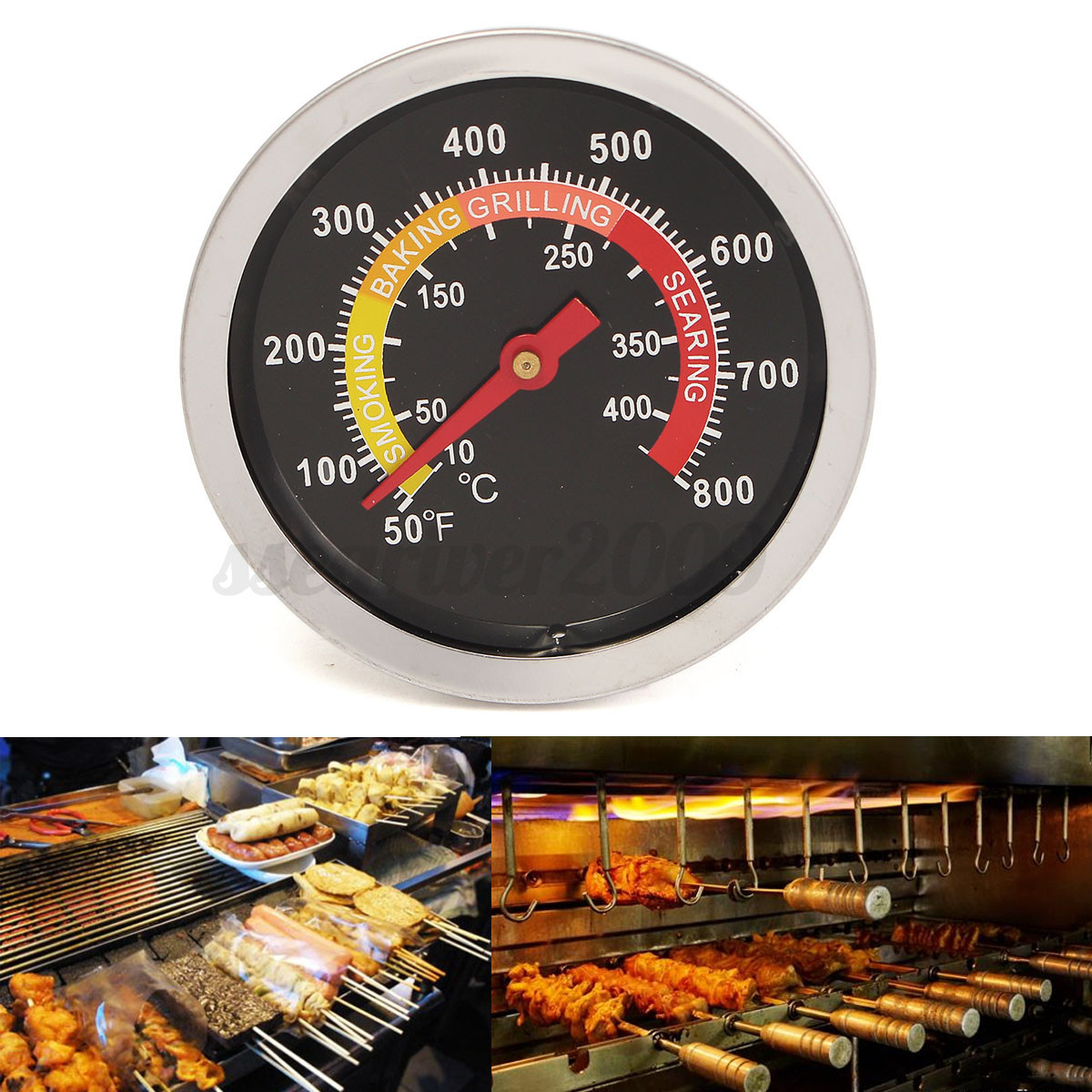 400 Barbecue BBQ Smoker Grill Thermometer Temperature Controller Gauge #B79514