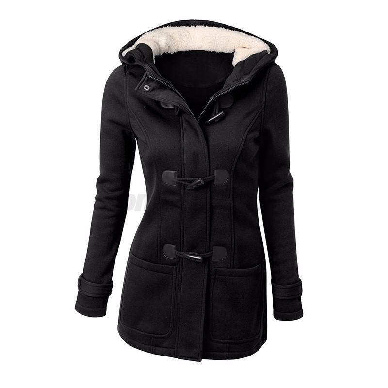 Women Fur Pocket Hooded Jacket Coat Sweater Outerwear Hoodie Sweatshirt Overcoat