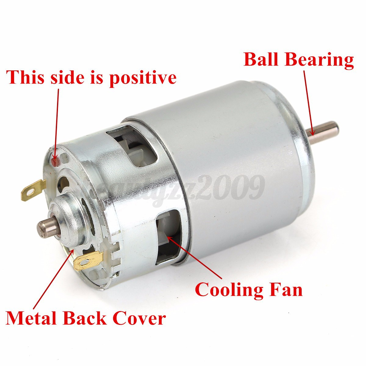 775 Dc 12v 36v 3500 9000rpm Motor Ball Bearing Large