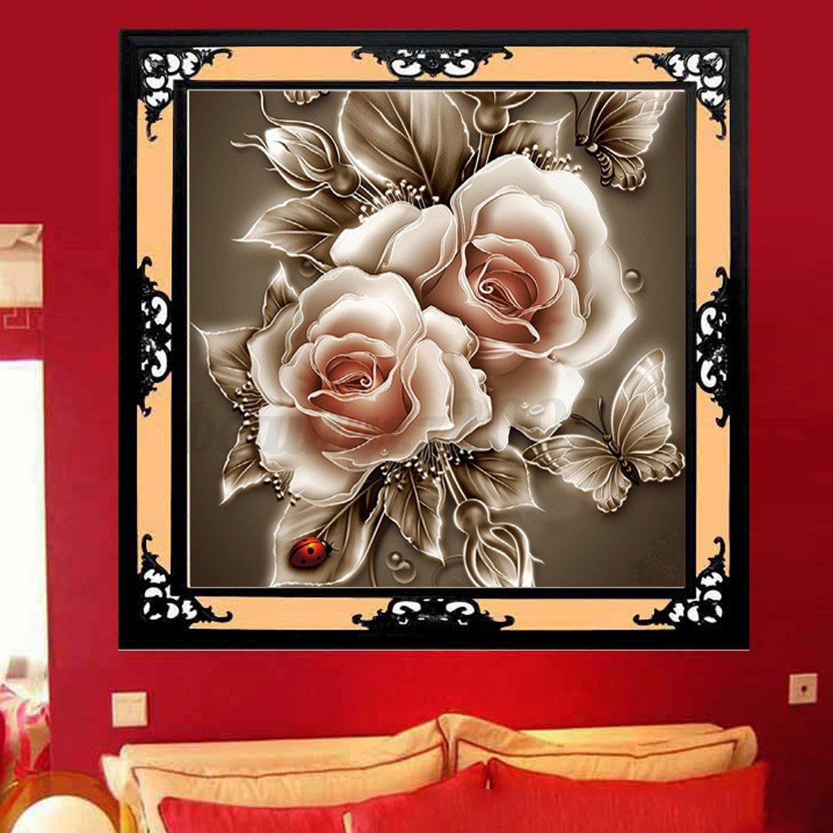 5d diy diamond retro flower embroidery painting cross for Home decor 5d