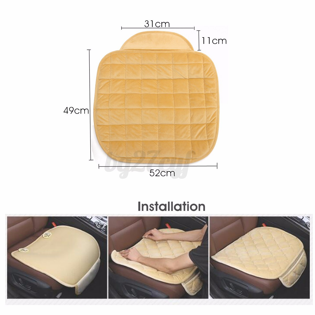 breathable car seat cushion cover pad mat warm sponge for