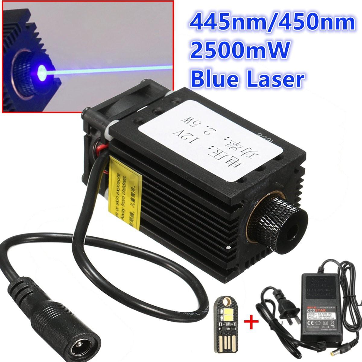 2500mw 2 5w 445nm blue laser module for diy cnc laser cutter engraving machine ebay. Black Bedroom Furniture Sets. Home Design Ideas