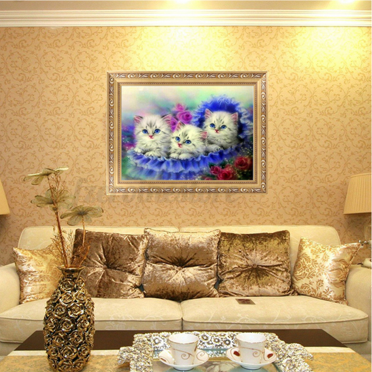5d diy diamond painting dog cat pet animals embroider for Home decor 5d