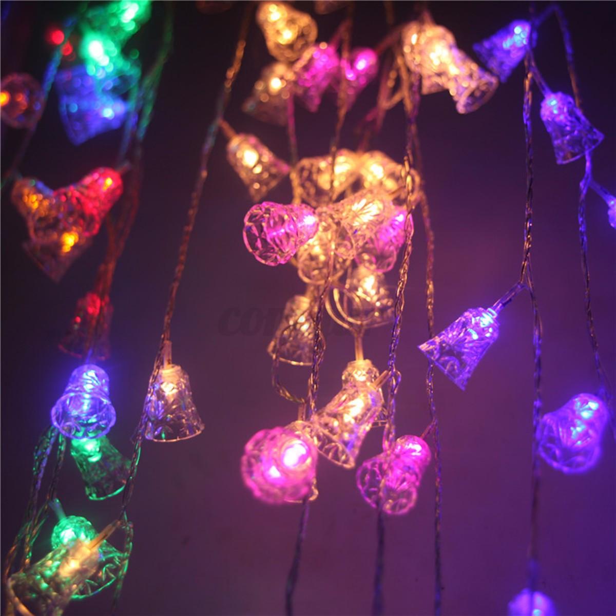 20 LED Christmas Bell Shaped Flashing Light String Xmas Tree Hanging Decoration eBay