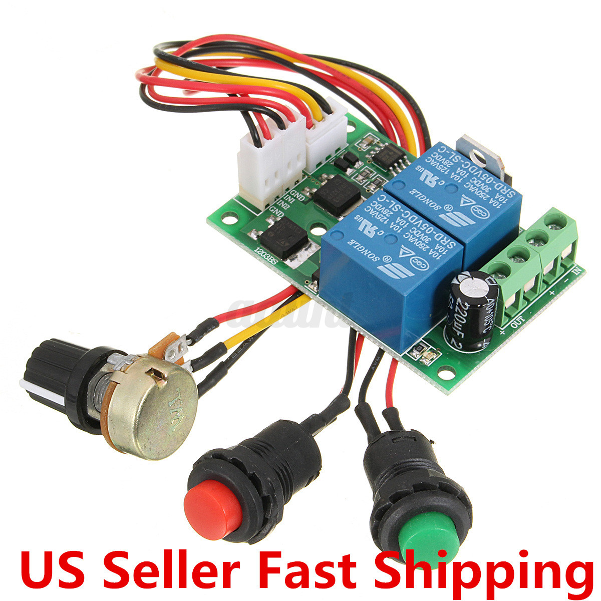 New Universal DC 6-24V 3A PWM RC Motor Speed Regulator Controller Switch US