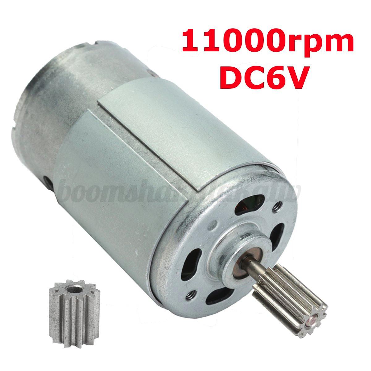 390 550 dc 6v 12v 18000 30000rpm electrical motor for kids for Dc gear motor 6v