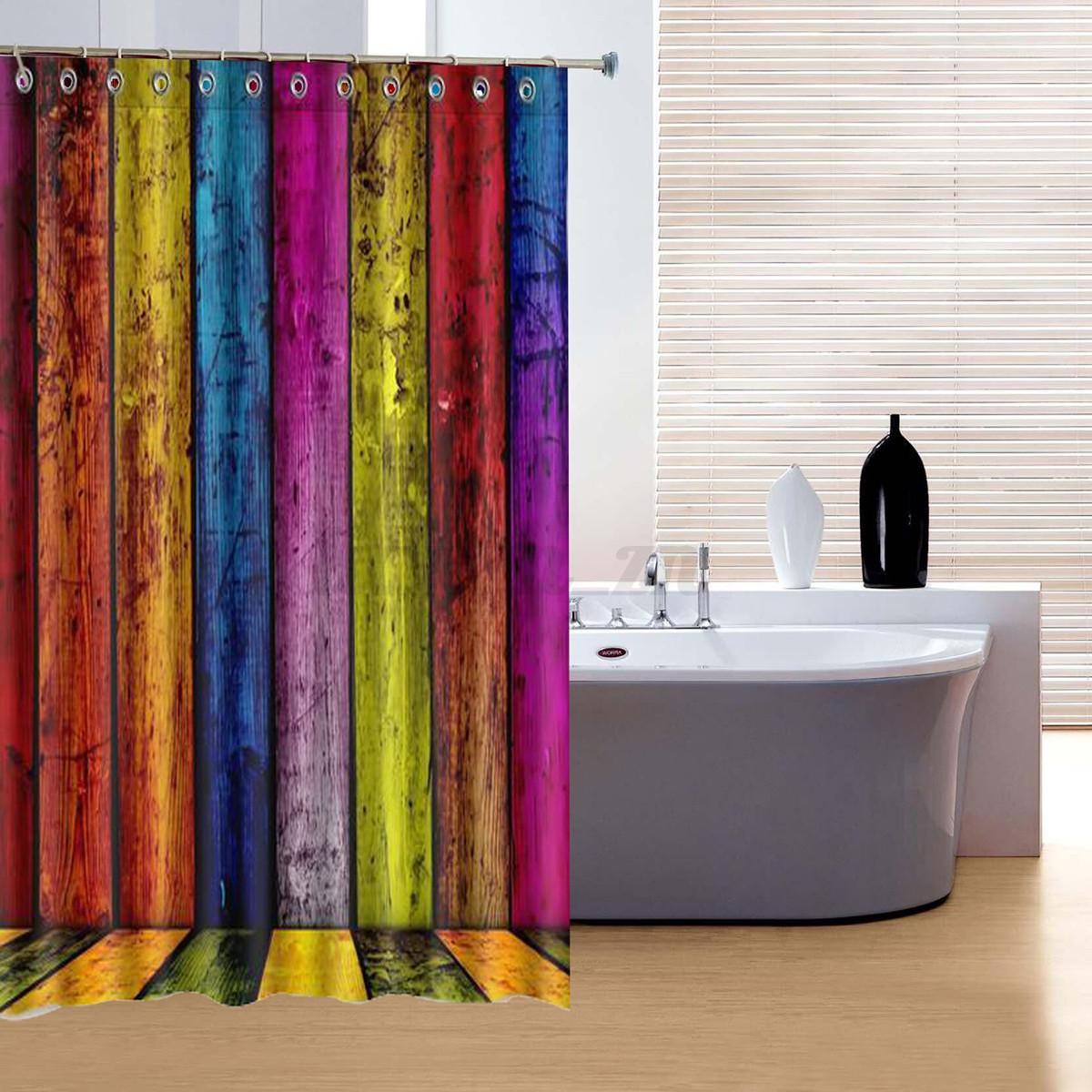 Stylish Design Solid Polyester Bathroom Shower Curtain