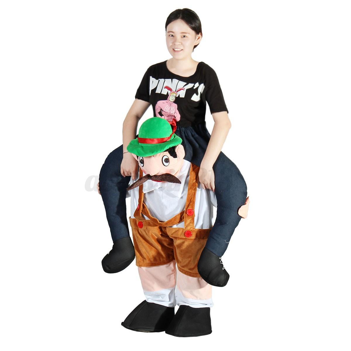 snowman carry me fancy piggy back ride on dress party dwarf mascot costume pants ebay. Black Bedroom Furniture Sets. Home Design Ideas