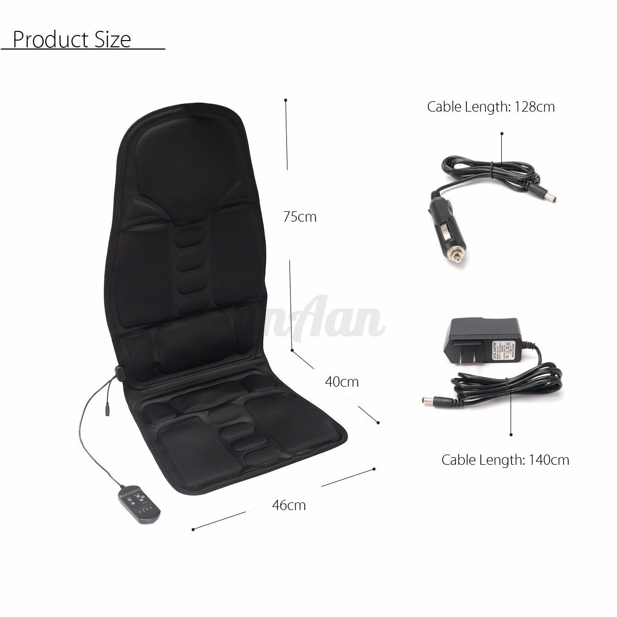 Heated Back Massage Chair Car Seat Cushion Massager Neck Pain Lumbar Pads Hea