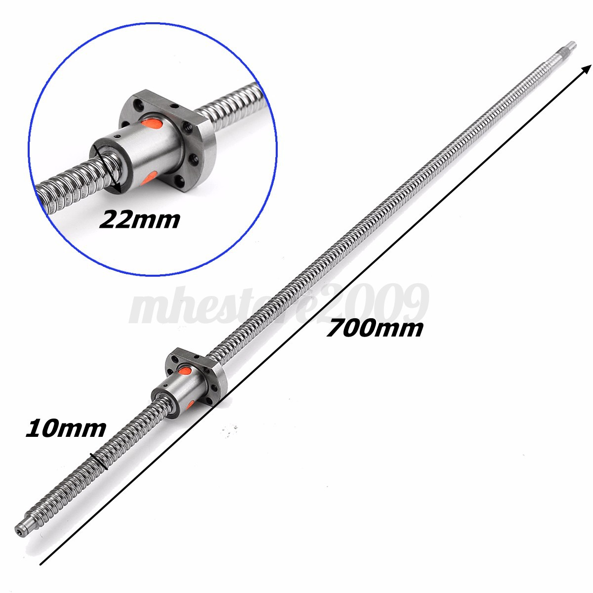 SFU1204 300-700mm Rolled Ball Screw With Ballnut For BK//BF10 End Machined CNC