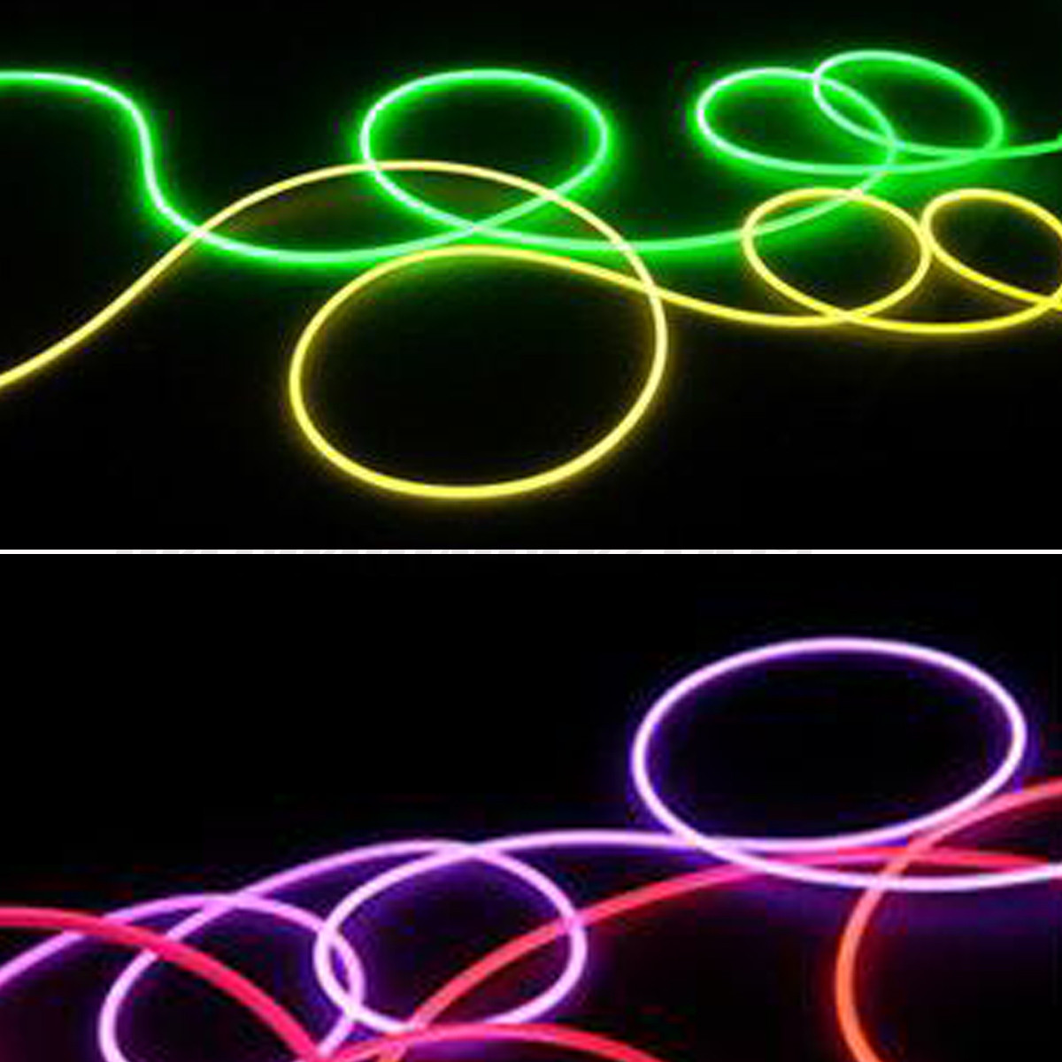 4mm 5m Pmma Plastic Fiber Optic Cable End Grow Led Light