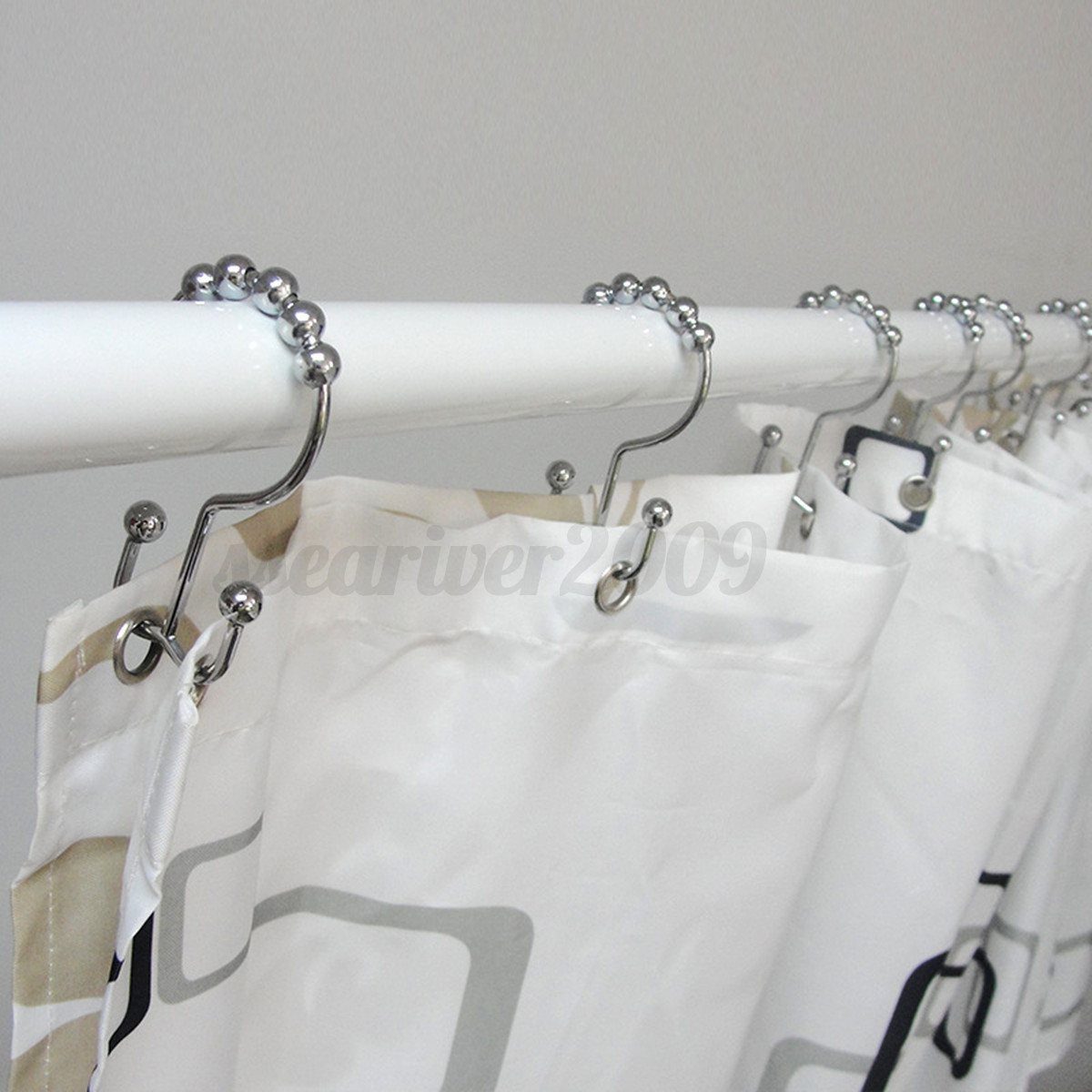 Open top shower curtain rings