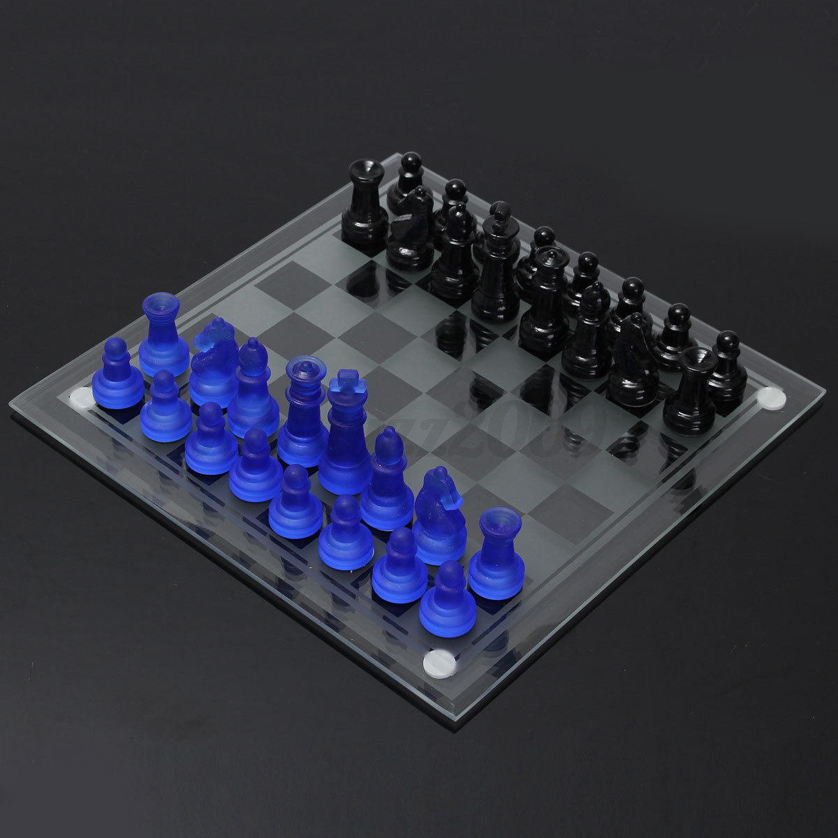 Megnetic Elegant Frosted Glass Chess With Board 2 In 1