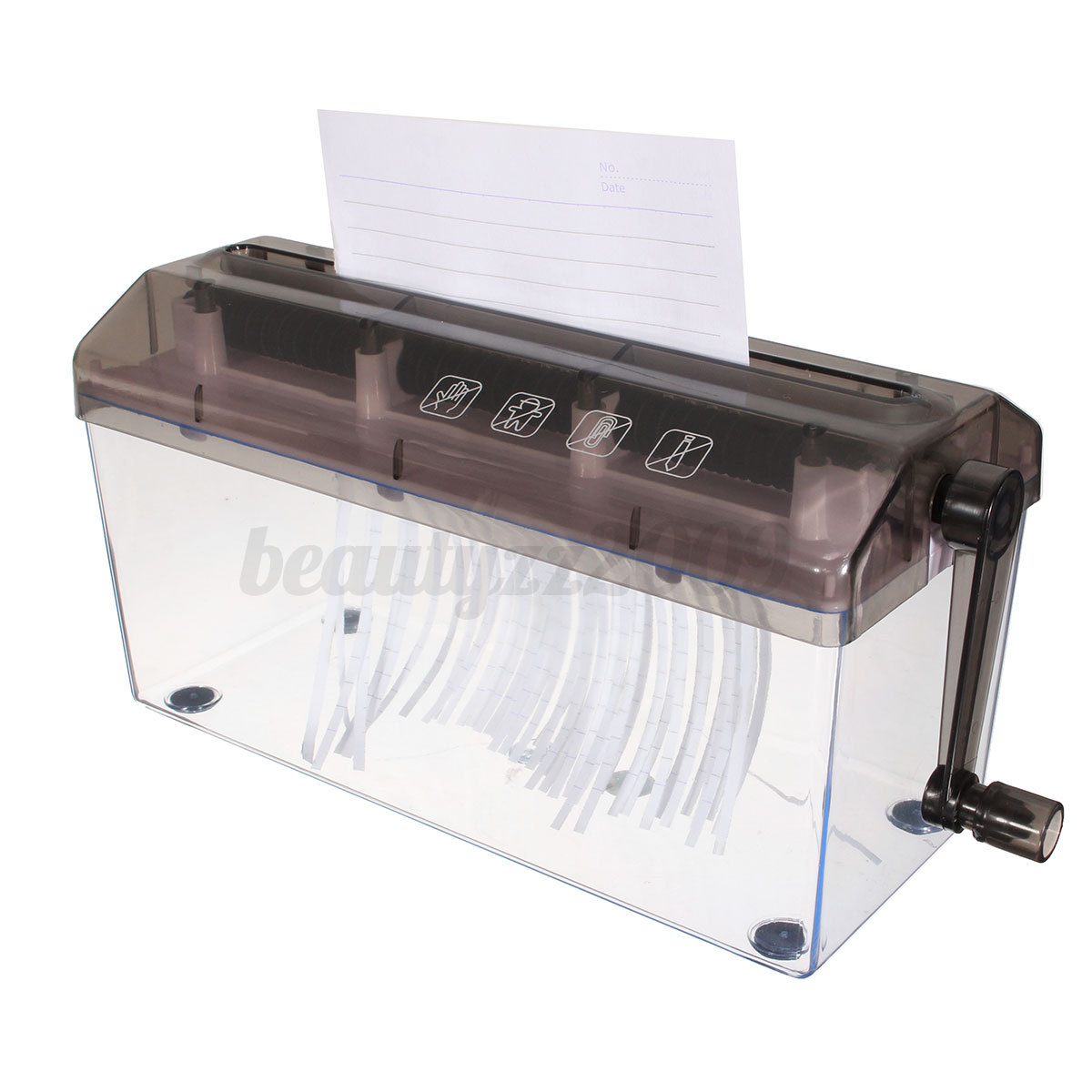 mini portable a4 a5 compact manual hand operated strip document paper shredder ebay. Black Bedroom Furniture Sets. Home Design Ideas