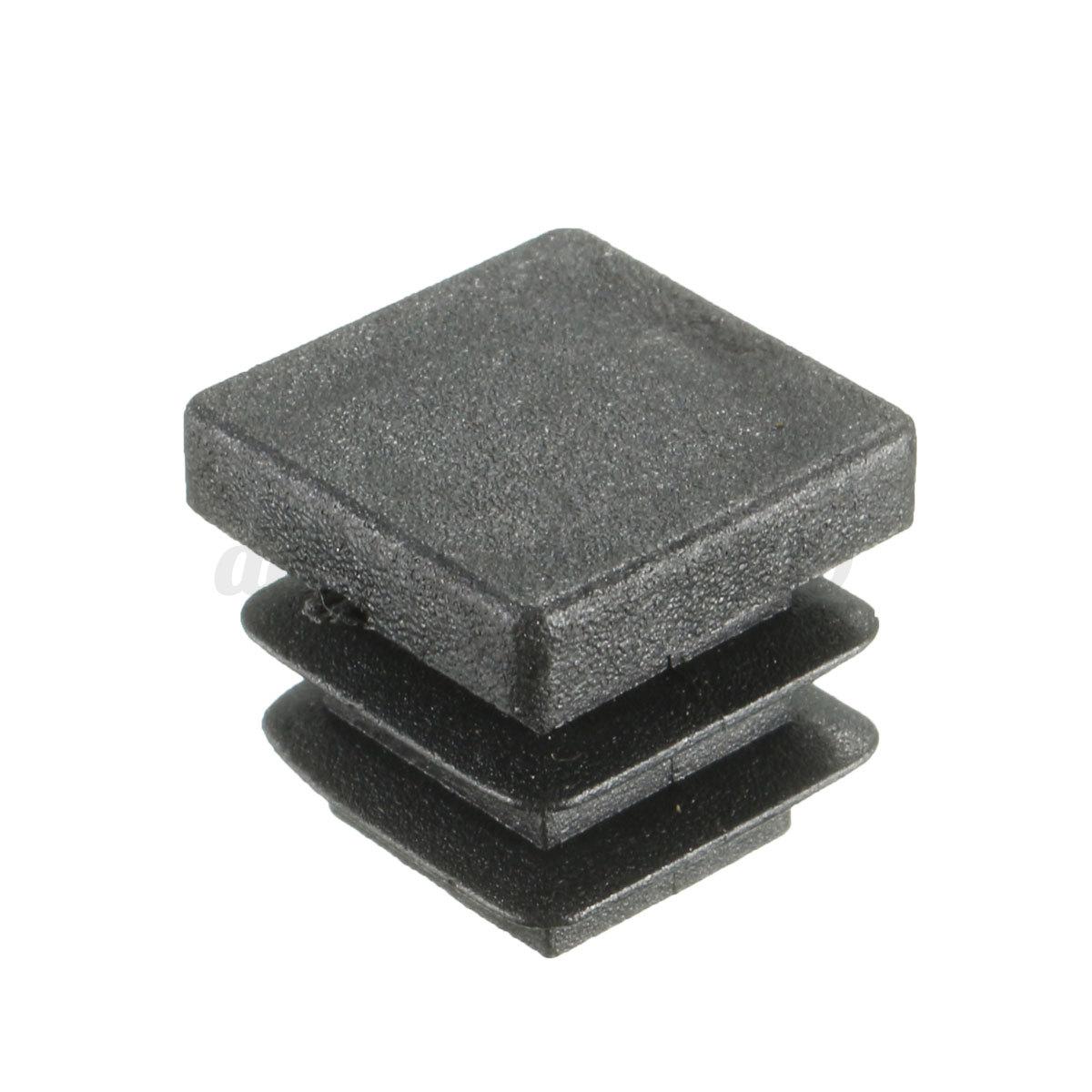 Pcs plastic black blanking end cap square inserts plug
