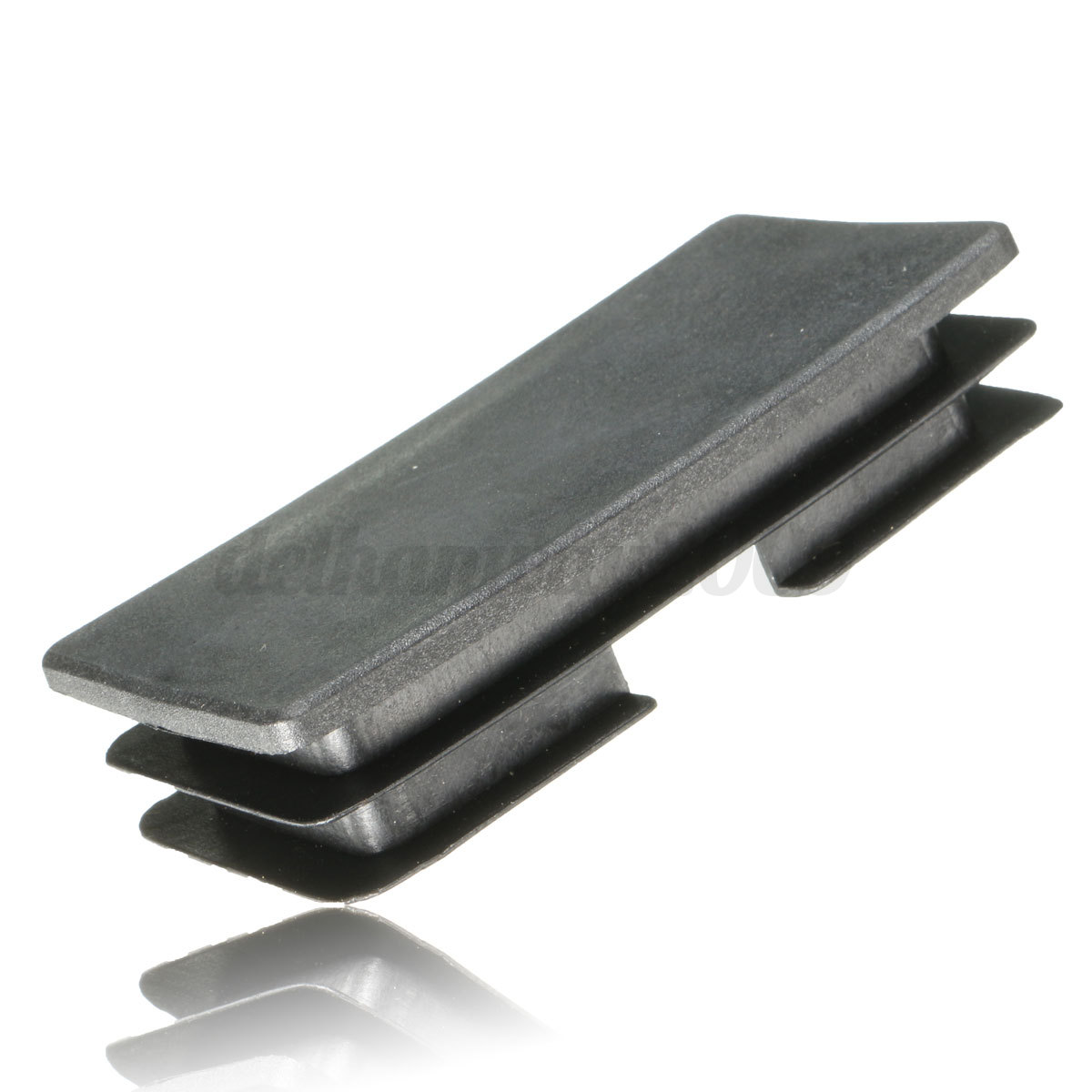 Plastic black blanking end cap rectangular inserts cover