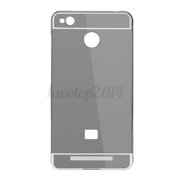 Metal frame plating mirror plane back case cover for for Mirror xiaomi to pc