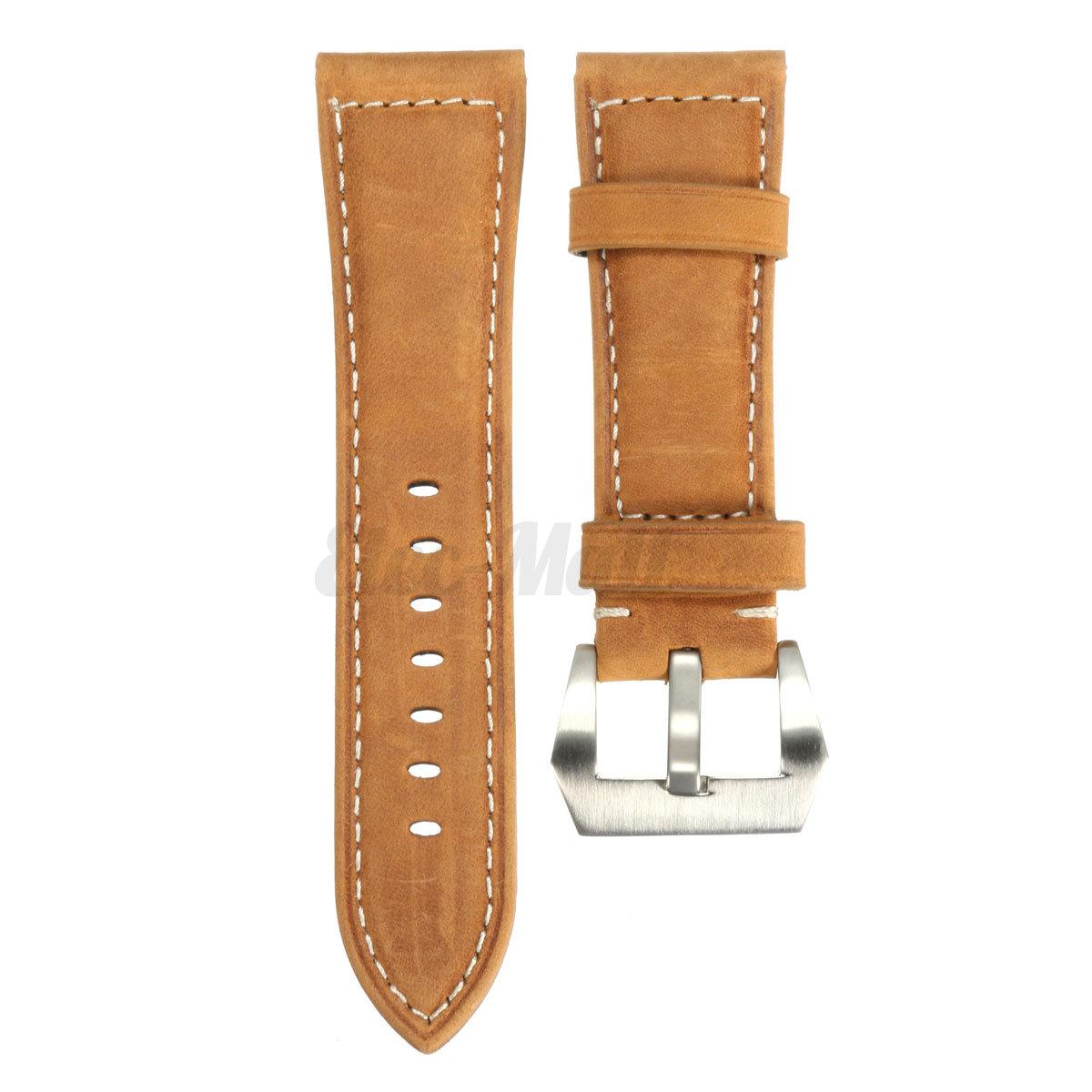 Genuine Leather Watch Band Wrist Strap For Garmin Fenix 3 / HR Smart Watch 26mm