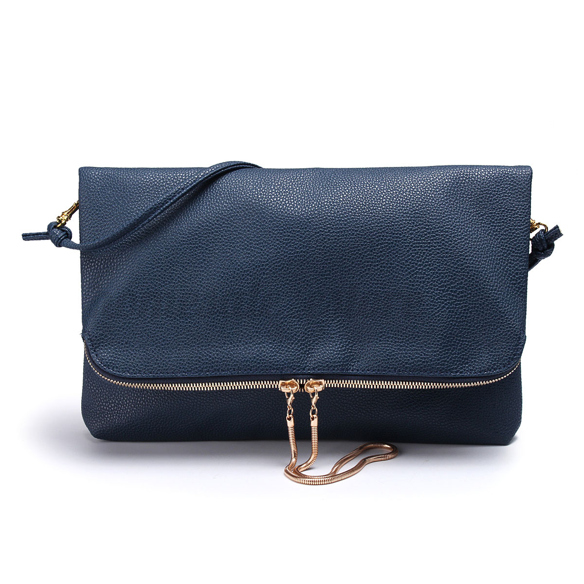 Fashion Women PU Leather Sling Fold Over Handbags Bags ...